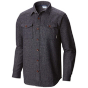 Columbia Sage Butte Long Sleeve Flannel Shirt, Collegiate Navy, medium