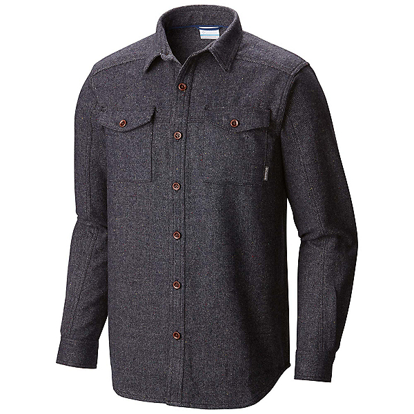 Columbia Sage Butte Long Sleeve Mens Flannel Shirt, Collegiate Navy, 600