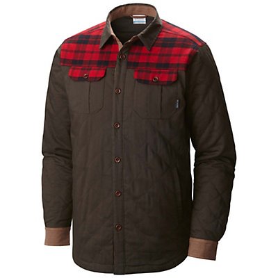 Columbia Kline Falls Shirt Mens Jacket, Buffalo-Mountain Red Plaid, viewer