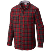 Columbia Hoyt Peak Mens Flannel Shirt, Mountain Red Grid, medium