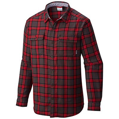 Columbia Hoyt Peak Flannel Shirt, Mountain Red Grid, viewer