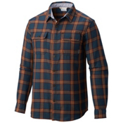Columbia Hoyt Peak Mens Flannel Shirt, Night Shadow Grid, medium