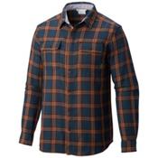 Columbia Hoyt Peak Mens Flannel Shirt, Night Shadow Grid, medium