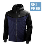 Helly Hansen Blazing Mens Insulated Ski Jacket, Evening Blue, medium