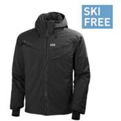 Helly Hansen Blazing Mens Insulated Ski Jacket, Black, medium