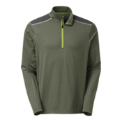The North Face Kilowatt 1/4 Zip Mens Shirt, Climbing Ivy Green Heather, medium