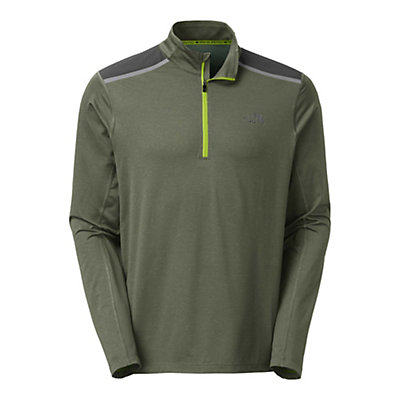 The North Face Kilowatt 1/4 Zip Mens Shirt, Climbing Ivy Green Heather, viewer