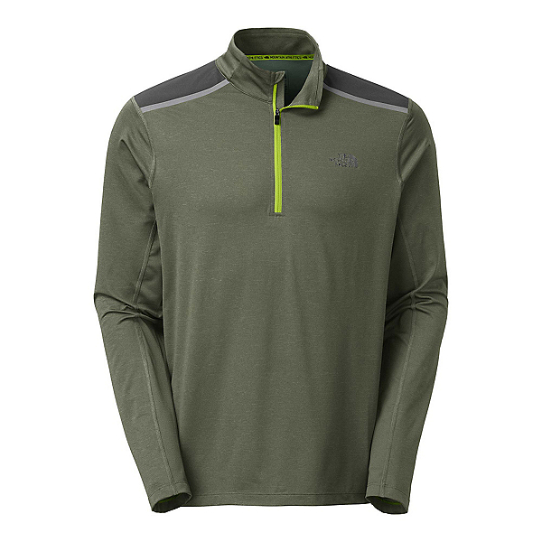 The North Face Kilowatt 1/4 Zip Mens Shirt, Climbing Ivy Green Heather, 600