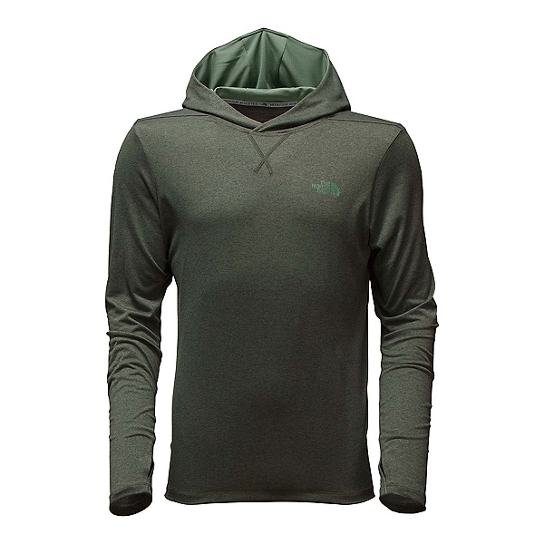 The North Face Reactor Mens Hoodie, Climbing Ivy Green Heather, 600