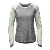 The North Face Motivation L/S Womens Shirt, TNF Medium Grey Heather-Subtle, medium
