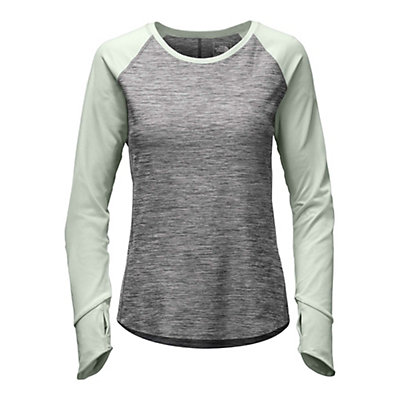 The North Face Motivation L/S Womens Shirt, TNF Medium Grey Heather-Subtle, viewer