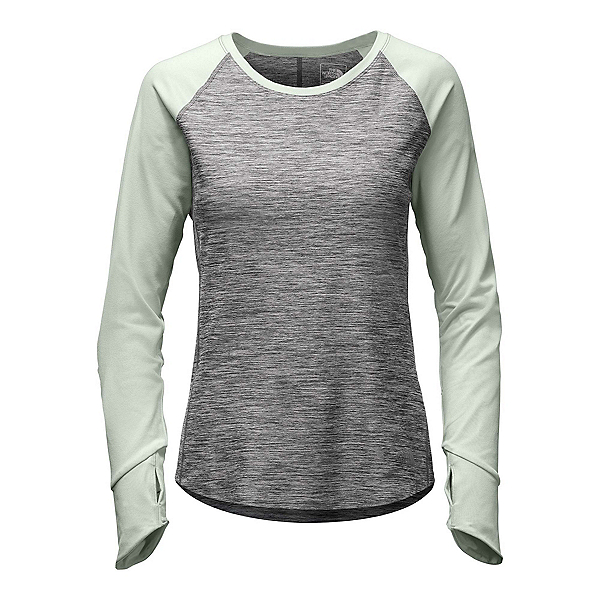 The North Face Motivation L/S Womens Shirt, TNF Medium Grey Heather-Subtle, 600