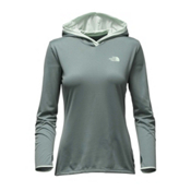The North Face Reactor Womens Hoodie, Balsam Green-Subtle Green, medium