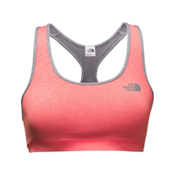 The North Face Versitas Fearless Womens Sports Bra, Cayenne Red Heather-TNF Medium, medium