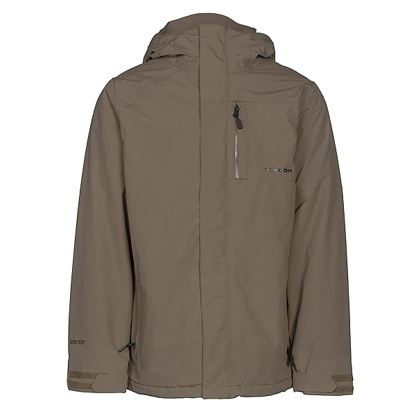 Volcom L GORE-TEX Mens Insulated Snowboard Jacket, Teak, 600