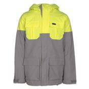 Volcom Alternate Mens Insulated Snowboard Jacket, Grey, medium