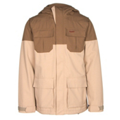 Volcom Alternate Mens Insulated Snowboard Jacket, Khaki, medium