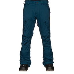 Volcom Articulated Mens Snowboard Pants, Blue Black, 256