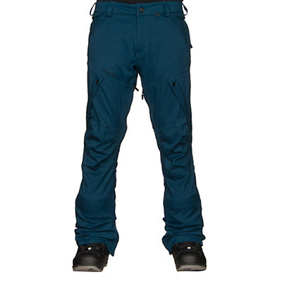 Volcom Articulated Mens Snowboard Pants, Blue Black, viewer