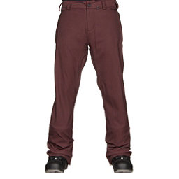 Volcom Freakin Snow Chino Mens Snowboard Pants, Burgundy, 256
