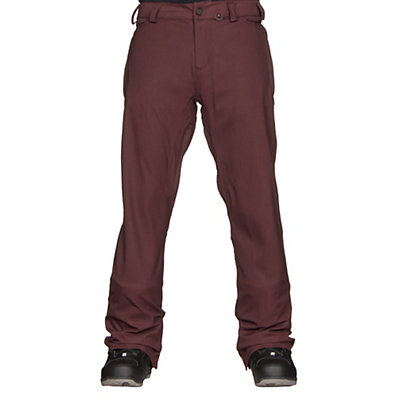Volcom Freakin Snow Chino Mens Snowboard Pants, Burgundy, viewer