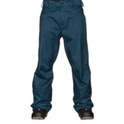 Volcom Carbon Mens Snowboard Pants, Blue Black, medium