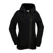 Volcom Slate Insulated Fleece Womens Jacket, Black, medium