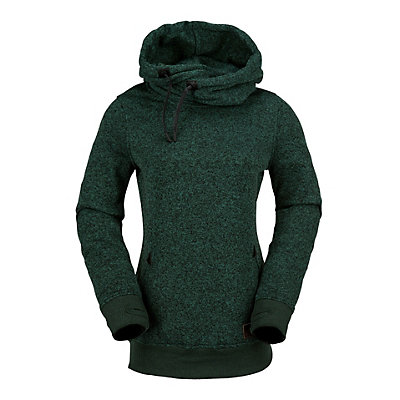 Volcom Tower Pull Over Fleece Womens Hoodie, Expedition Green, viewer