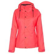 Volcom Bolt Womens Insulated Snowboard Jacket, Electric Pink, medium