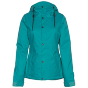 Volcom Bolt Womens Insulated Snowboard Jacket, Teal, medium