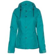 Volcom Bolt Womens Insulated Snowboard Jacket, Teal, medium
