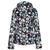 Volcom Bolt Womens Insulated Snowboard Jacket, Flutter Collage Print Multi, medium