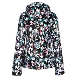 Volcom Bolt Womens Insulated Snowboard Jacket, Flutter Collage Print Multi, 256