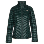The North Face ThermoBall Full Zip Womens Jacket, Darkest Spruce, medium