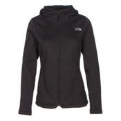 The North Face Crescent Full Zip Womens Jacket, TNF Black Heather, medium