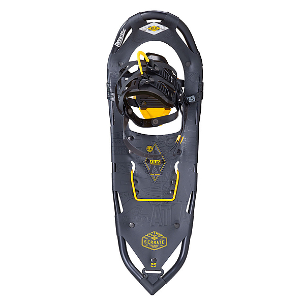 Atlas Serrate Snowshoes, Black-Atlas Yellow, 600
