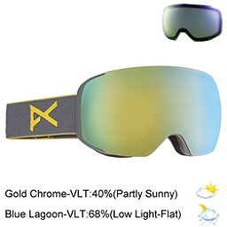 Anon M2 Goggles 2017, Gray-Gold Chrome + Bonus Lens, 256