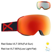 Anon M2 Goggles 2017, Redeye-Red Solex + Bonus Lens, medium