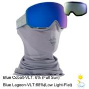 Anon M2 MFI Goggles 2017, Gray-Blue Cobalt + Bonus Lens, medium