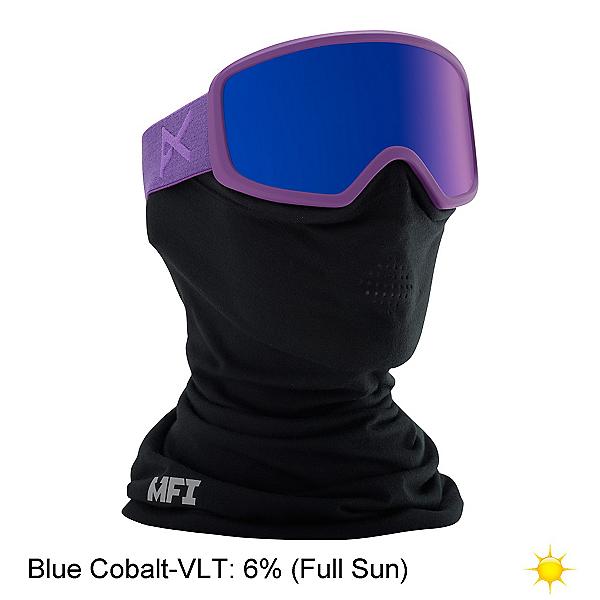 Anon Deringer MFI Womens Goggles 2017, Imperial-Blue Cobalt, 600