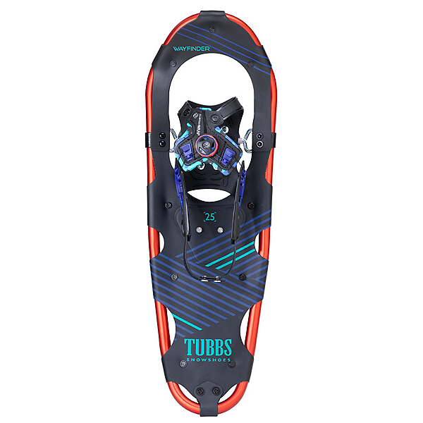 Tubbs Wayfinder Womens Snowshoes, Black-Hot Red, 600