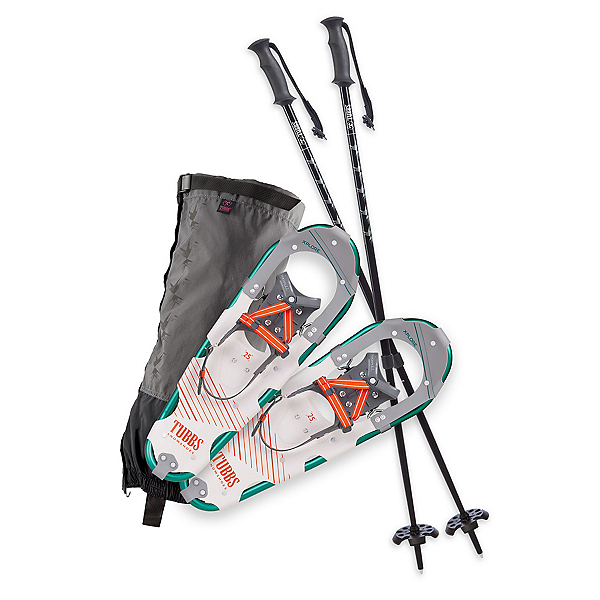 Tubbs Xplore Kit Womens Snowshoes, Turquoise-Warm Red, 600