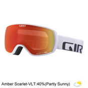 Giro Balance Goggles 2017, White Wordmark-Amber Scarlet, medium