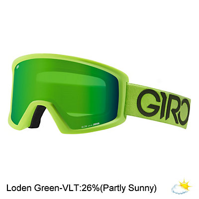 Giro Blok Goggles, Lime-Black Dual-Loden Green, viewer