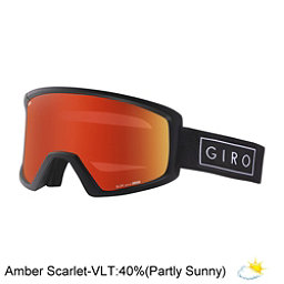 Giro Blok Goggles 2017, Black Bar-Amber Scarlet, 256