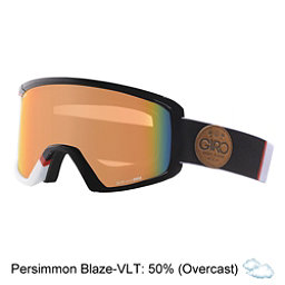 Giro Blok Goggles 2017, White-Black Asym-Persimmon Bla, 256