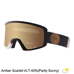 Giro Blok Goggles 2017, White-Black Asym-Amber Scarlet, 256