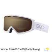 Giro Index Womens OTG Goggles 2017, White Pocket Square-Amber Rose, medium