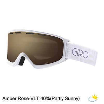 Giro Index Womens OTG Goggles 2017, White Pocket Square-Amber Rose, viewer