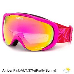 Giro Field Womens Goggles 2017, Magenta-Red Tropical-Amber Pin, 256